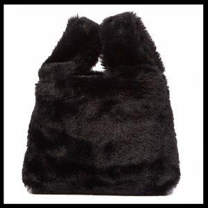 🔥NWT🔥Adorable & Soft Faux Black Fur Tote